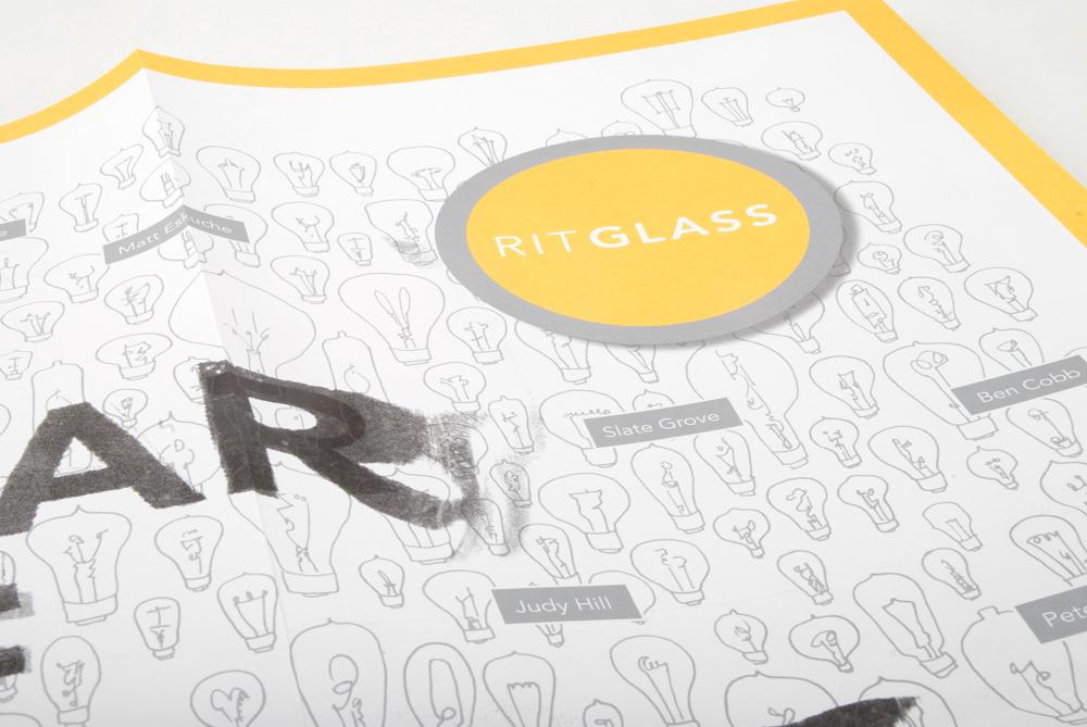 Bill Klingensmith MYDARNDEST Studio - Rochester, NY - RIT Glass Poster #poster #fluorecent #metallic