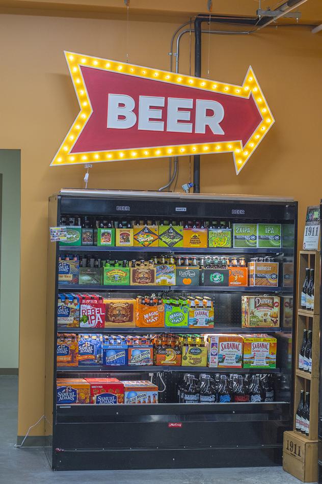 MYDARNDEST - Bill Klingensmith Hart's Local Grocers Signage Rochester, NY #hartslocalgrocers #signs #3dsign #branding #beer #vintage