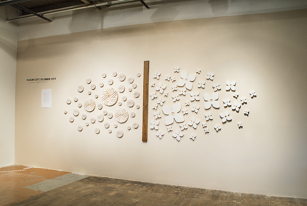 Flower City | Flour City: Wall Art Installation Project CNC Milled Baltic Birch Forms Work was displayed in MYDARNDEST Studio – Rochester, New York View more work at: https://mydarndest.com #art #design #maker #civicpride #CNC