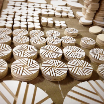Flower City | Flour City: Wall Art Installation Project CNC Milled Baltic Birch Forms Work was displayed in MYDARNDEST Studio – Rochester, New York View more work at: http://www.mydarndest.com #art #design #maker #civicpride #CNC