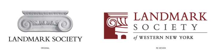 Bill Klingensmith MYDARNDEST Studio in Rochester, New York: Landmark Society of Western New York #branding #logo