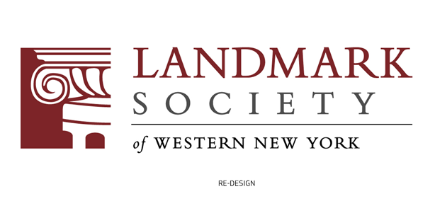 Bill Klingensmith MYDARNDEST Studio in Rochester, New York: Landmark Society of Western New York #branding #logo