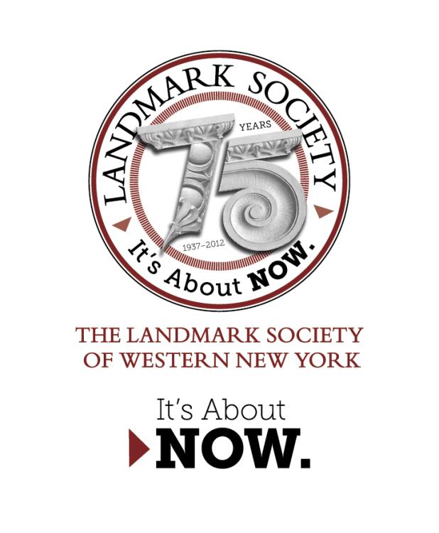 Bill Klingensmith MYDARNDEST Studio in Rochester, New York: Landmark Society of Western New York -75th Campaign #branding #logo