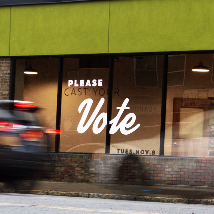 MYDARNDEST STUDIO - Get out the vote message on the Made On State building. 510 State Street in Rochester, NY. October 2016