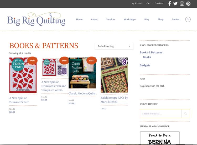 MYDARNDEST STUDIO: Web Design - Big Rig Quilting Artist Website