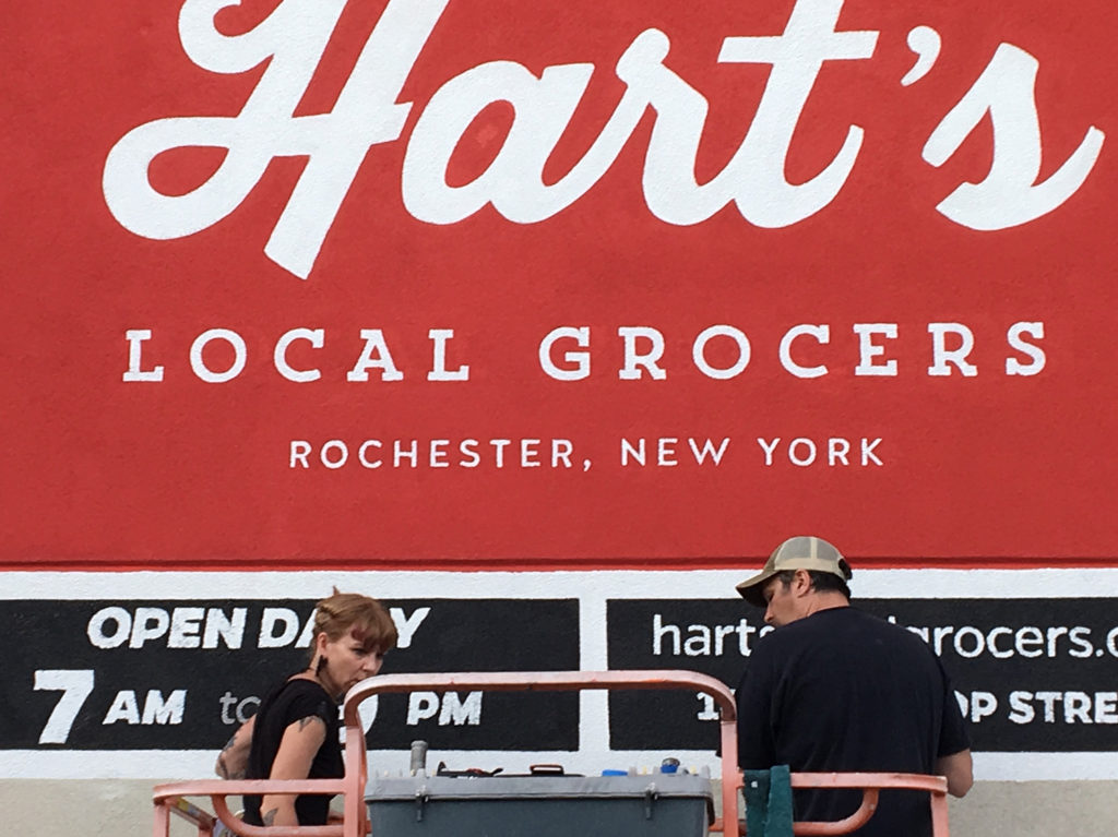 Hart's Local Grocers - Wall Mural - Leah Rizzo and Bill Klingensmith